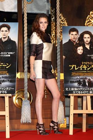 Kristen Stewart The Twilight Saga: Breaking Dawn Part 2 photocall in Tokyo October 24, 2012