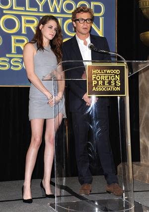 Kristen Stewart at Hollywood Foreign Press Association's Cecil B. Demille Award presentation in Beverly Hills 11/1/12