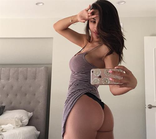 Ana Cheri taking a selfie and - ass