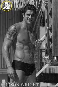 Joel Rush in a bikini