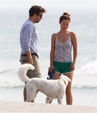 Olivia Wilde - on the beach in Wilmington,North Carolina - August 18 2012