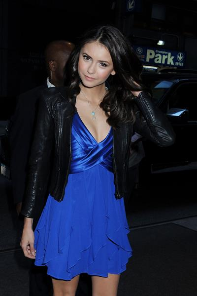 Nina Dobrev arriving at her hotel in New York City on May 5, 2010
