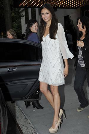 Nina Dobrev leaving her hotel in New York City an May 20, 2010