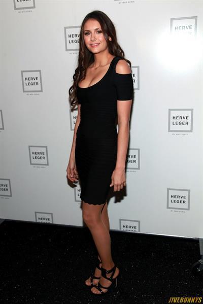 Nina Dobrev backstage at Christian Sirianos Fall 2012 show in New York City 11-2-2012