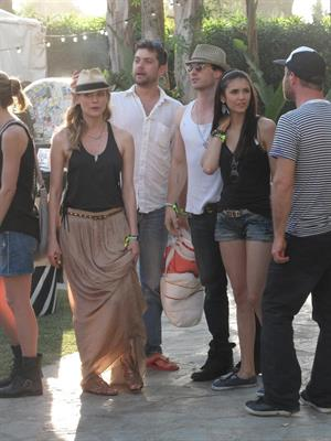Nina Dobrev Coachella Valley Music Arts Festival day 3, April 17, 2011