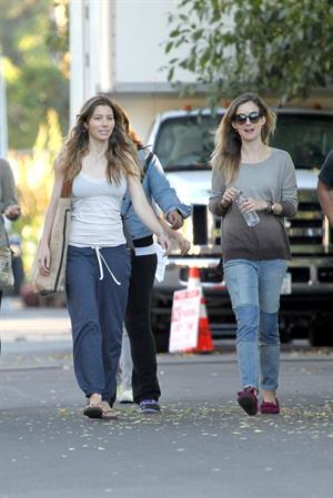 "Jessica Biel – ""Shiva and May"" set candids, LA 10/17/13"