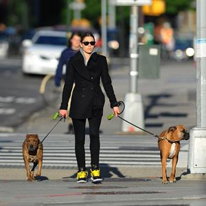 Jessica Biel Takes her two dogs for a long walk in SoHo (May 4, 2013)