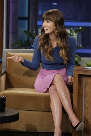Jessica Biel - The Tonight Show With Jay Leno - July 25, 2012