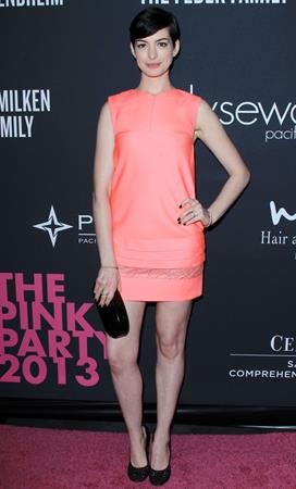 Anne Hathaway The Pink Party 2013 - Los Angeles - October 19, 2013