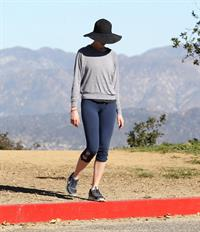 Anne Hathaway out and about in the Hollywood Hills 1/19/13