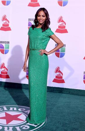 Zoe Saldana 12th Annual Latin Grammy Awards in Las Vegas, Nevada - November 10-2011