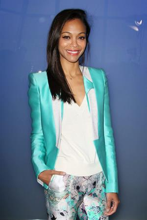 Zoe Saldana Prabal Gurung Fall 2012 Collection show February 11, 2012 in New York City