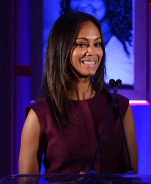 Zoe Saldana attends the Children's Defense Fund's 22nd annual 'Beat the Odds' Awards - December 6-2012