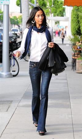 Zoe Saldana at IV Karats in Beverly Hills February 15 2011