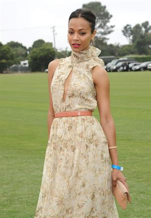 Zoe Saldana Santa Barbara Polo and Racquet club