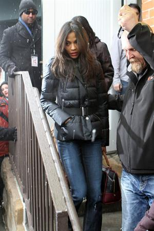 Zoe Saldana at the Sundance Film Festival on January 26-2012