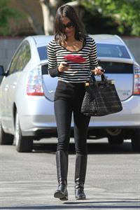 Zoe Saldana outside a Recording Studio in Hollywood