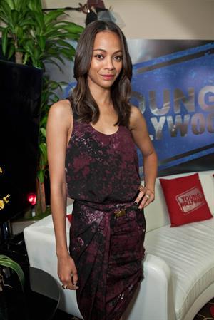 Zoe Saldana Visits YoungHollywood.com at Young Hollywood Studio -- Los Angeles, Aug. 24, 2011