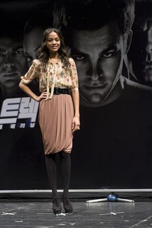 Zoe Saldana ''Star Trek - The Beginning' press conference at
