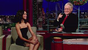 Zoe Salanda at The Letterman Show