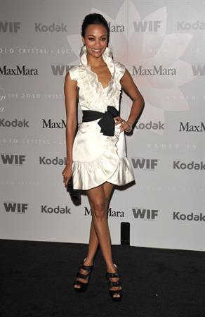 Zoe Saldana - 2010 Women In Film Crystal & Lucy Awards: A New Era - June 1, 2010