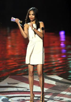 Zoe Saldana -  Spike TV's 2011 SCREAM Awards Show  in Universal City - October 15, 2011