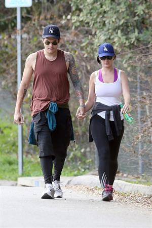 Katy Perry hiking in LA on January 31, 2013