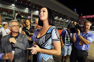 Katy Perry at the Formula One Grand Prix in Singapore 9/23/12
