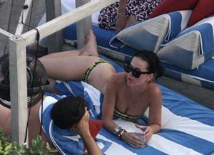 Katy Perry - In a bikini at a hotel pool in Miami July 27, 2012