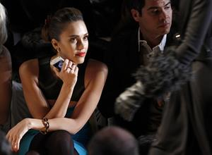 Jessica Alba Michael Kors Fall 2012 fashion show in New York on February 15, 2012
