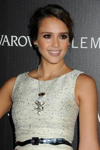 Jessica Alba Swarovski Elements holiday lighting ceremony November 21, 2011