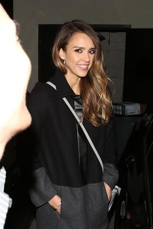 Jessica Alba - leaving Nobu's in Beverly Hills (05.02.2013)