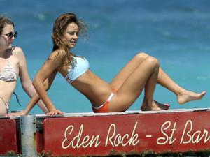 Jessica Alba  bikini candids in St. Barts 4/4/13