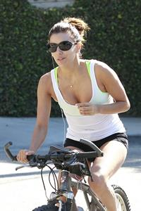 Eva Longoria Riding a bike in Los Angeles - August 24-2013