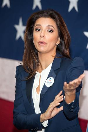 Eva Longoria Participates in Early Vote Canvass Kickoff in Florida - October 27, 2012