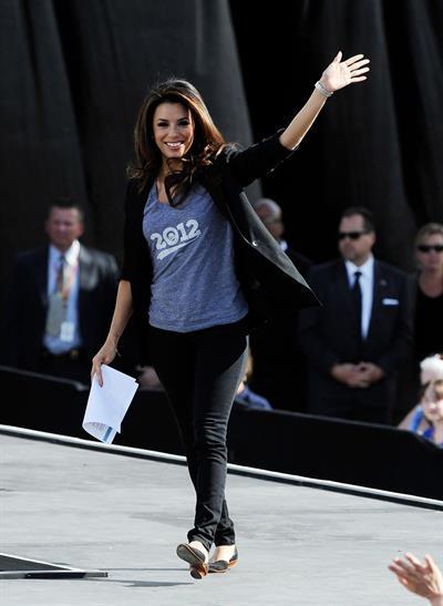 Eva Longoria Obama Campaigns In Nevada in Las Vegas - November 1, 2012