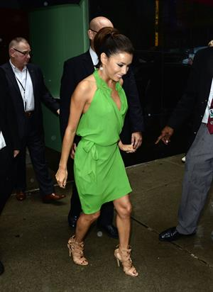 Eva Longoria - Made her exit from a studio in New York City on July 20, 2012