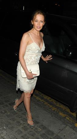 Kylie Minogue - Spotted wearing her small white in London (19.07.2013)