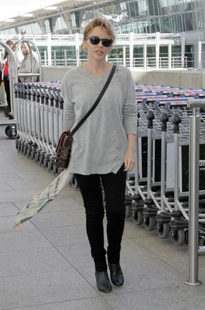 Kylie Minogue Heathrow Airport in London - October 10, 2012
