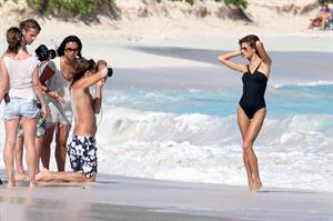 Alessandra Ambrosio poses for the new Victorias Secret Swimwear collection in St Barts