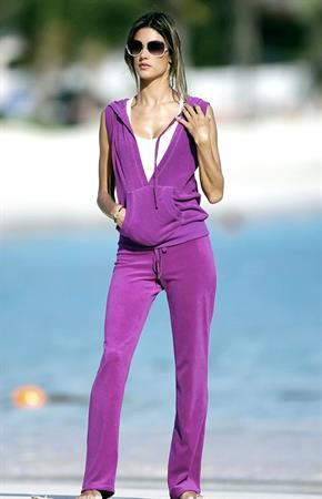Alessandra Ambrosio St Barts Victorias Secret photo shoot Jan 25