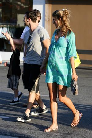 Alessandra Ambrosio shopping at Planet Blue in Malibu
