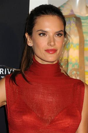 Alessandra Ambrosio at Rodeo Drive Walk of Style Award Honoring Iman and Missoni on October 23, 2011