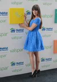 Lea Michele - Valspar Hands For Habitat Unveiling in New York - July 20, 2012