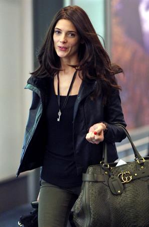 Ashley Greene at Vancouver International Airport April 29, 2012