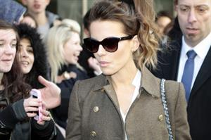 Kate Beckinsale out side her hotel in London, UK - February 20-2013