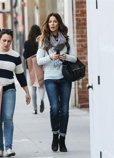 Kate Beckinsale hits up Rodeo Drive with a friend in Beverly Hills December 7, 2012