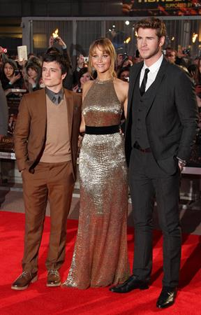 Jennifer Lawrence at the Hunger Games UK premiere on March 14, 2012
