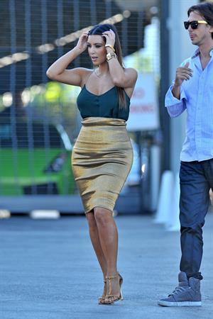 Kim Kardashian at Prestige Imports car showroom in Miami 10/30/12