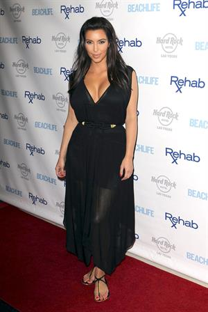 Kim Kardashian - Hosts Rehab Sundays Pool Party at the Hard Rock in Las Vegas (June 3, 2012)